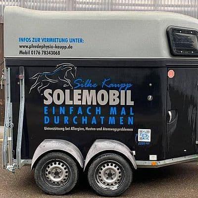 Soleinhalationsanhänger Pferd